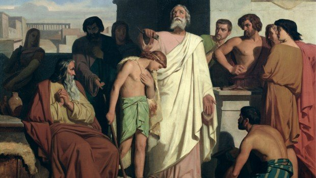 Felix-Joseph_Barrias_-_Onction_David_by_Saul