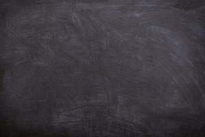 Tableau noir d'école.