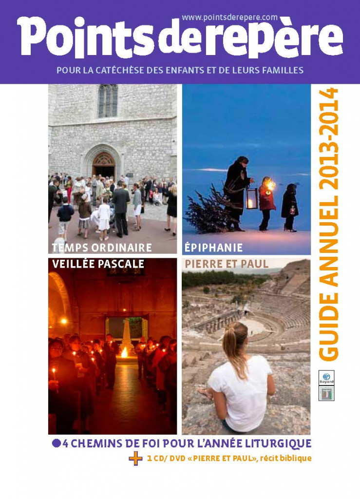 Couverture du guide annuel Points de repère, 2013-2014.