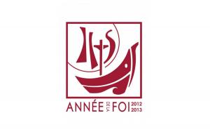 Logo de l'Année de la Foi, voulue par le pape Benoît XVI en 2013. Elle coïncidait avec avec le cinquantième anniversaire de l'ouverture du Concile Vatican II.