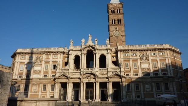 Façade de la Basilique Sainte Marie Majeure, à Rome