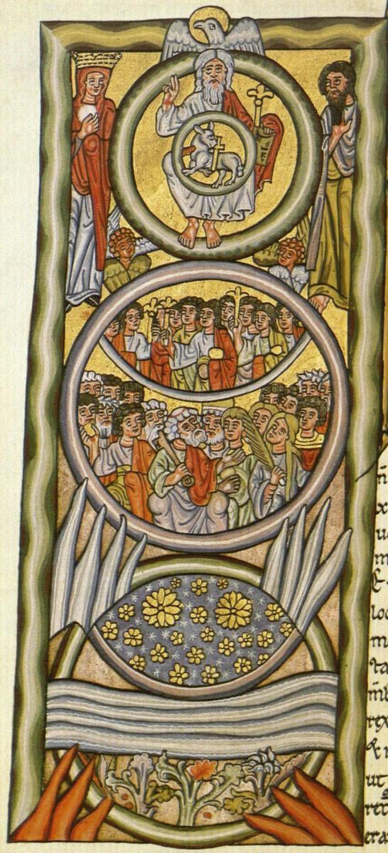 Miniature du Liber Scivias codex d'Hildegarde de Bingen (1511).