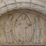 Le tympan de l'abbaye de la Charité sur Loire.