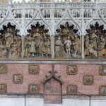 Amiens Cathédrale Notre Dame. Hauts-reliefs de la clôture Nord Vie de saint Jean-Baptiste (œuvre datée de 1531)