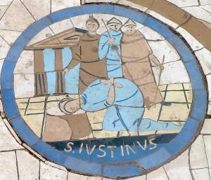 Mosaïque du martyr de Saint Justin, Mont des Béatitudes.