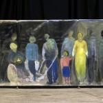 « La rue » de Anne Courbaud, octobre 2007, 600x200 cm, acrylique sur toile.
