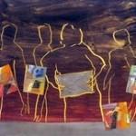 Peinture « Repas de noces » de Jacques Cadet.