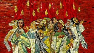 Mosaïque représentant la Pentecôte.