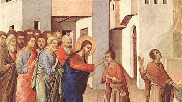 La guérison de l'homme aveugle, (1308-11), Duccio di Buoninsegna, National Gallery, London