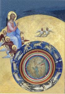 La Création, détail de la fresque du baptistère du dôme de Padoue, Giusto de Menabuoi.