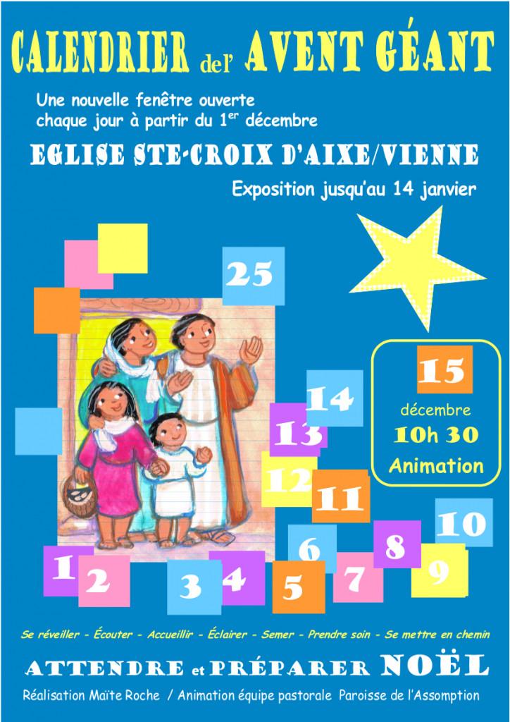 affiche Avent-2018 Aixe dio Limoges