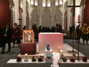 Janvier 2018 : Veillée « Allons au cœur de la foi » à l'église Sainte Ignace à Paris autour de la Semaine Sainte et du Triduum pascal, cœur de l'année liturgique.