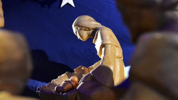 9 janvier 2018 : Crèche de Noël. Egl. Sainte Elisabeth de Hongrie, Paris (75), France.