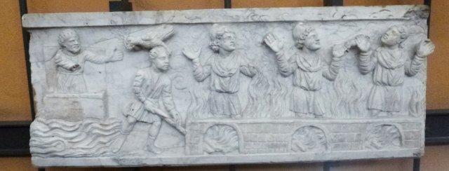 3 Noé sortant de son arche et les trois hébreux