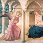 La fresque de l'Annonciation de Fra Angelico.