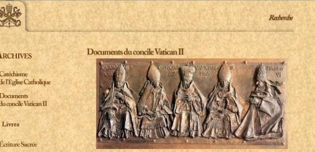 Concile Vatican II - site du Vatican