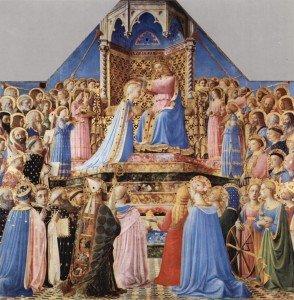 Couronnement de la Vierge de Fra Angelico, Musée du Louvre