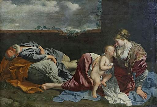 Le Repos de la Sainte Famille pendant la fuite en Egypte