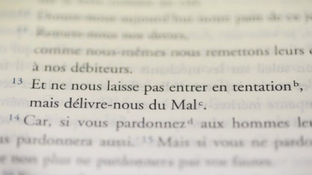 12 novembre 2013 : Le Notre Père modifié, dans la nouvelle traduction de la Bible, aux éditions MAME, Paris (75), France.