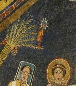 Dattier au phénix, Basilique Sainte Praxède à Rome.