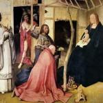 L'Épiphanie ou L'adoration des mages est un triptyque peint par Jérôme Bosch (1496-97). Musée national du Prado, Madrid.