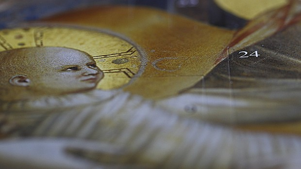 Calendrier de l'Avent d'après Giotto.