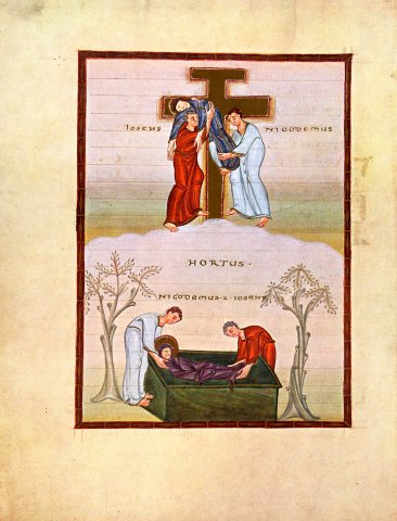 enluminure descente de croix
