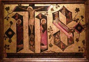 Crucifixion et résurrection JHS Andreas Ritzos 1549