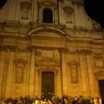 Façade baroque de Sant'Ignazio à Rome, lors des Journées mondiales des catéchistes à Rome, en 2013.