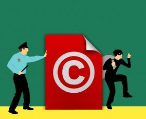 Illustration d'un copyright et du droit d'auteur.