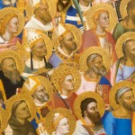 Le couronnement de la Vierge et l'adoration des saints attribué à Jacopo di Cione, 1370.