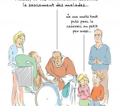 onction des malades dessin