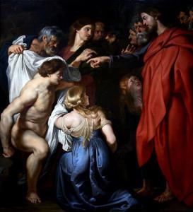La résurrection de Lazare, de Pierre Paul Rubens.
