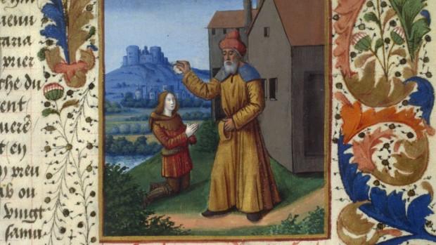 Onction de David, France, XVe siècle.