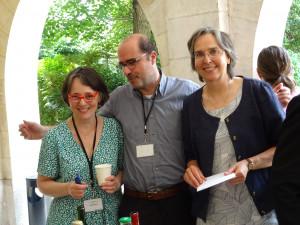 de g. à d. : Anne Dagallier, P. Pietro Biaggi et Isabel de la Taste.