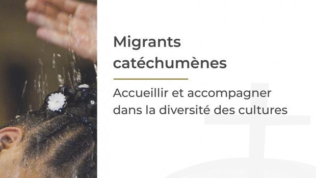 Couverture de livret « Migrants catéchumènes. Accueillir et accompagner dans la diversité des cultures » 2019.