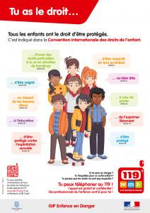 Affiche 119 Allô enfance en danger.