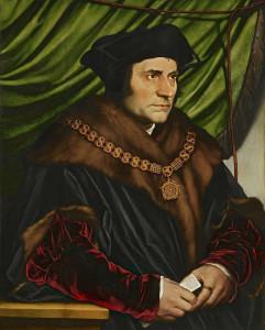 Le portrait de Sir Thomas More, huile sur panneau de chêne, réalisée par le peintre et graveur allemand Hans Holbein le Jeune en 1527 et exposée à la Frick Collection à New York.