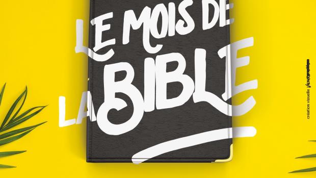 Une affiche réalisée pour le Mois de la Bible, édition 2020.