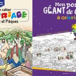 Mon cahier de coloriage Carême et Pâques, Mon poster géant de Carême à colorier, 2020, éd. Artège Le Sénevé.