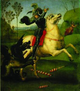 Saint Georges et le dragon, Raphaël, 1505, Musée du Louvre.