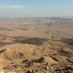 Le désert de Negev, en Judée. Le désert est le lieu de l'épreuve et de la conversion dans la Bible.