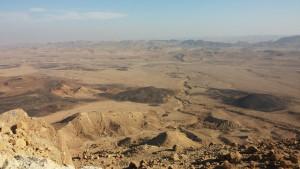 Le désert de Negev, en Judée.