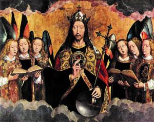 Retable du Monastère Santa Maria la Real de Najera, Panneau central du triptyque.