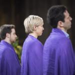 31 mars 2018 : Présentation des futurs baptisés, catéchumènes, lors de la célébration de la Vigile pascale en la cathédrale Notre Dame à Paris (75), France.