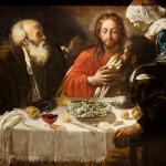 Le Christ et les disciples à Emmaüs. D'après le Caravage, avant 1614 ou ca 1621. Exposé au Kunsthistorisches Museum, Vienne Inv Nr GG235.