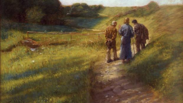 Le chemin d'Emmaüs de Fritz von Uhde (1891), Galerie Neue Meister, Dresde.