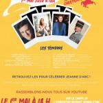 Centenaire de la canonisation de Sainte Jeanne d'Arc : l'affiche de l'événement  qui sera diffusé en live sur YouTube.