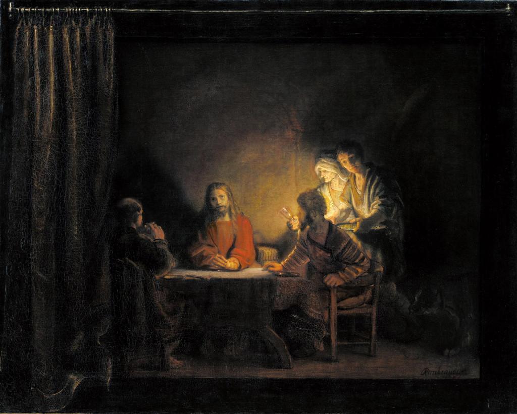 Le souper à Emmaüs, élève de Rembrandt, 1648, Statens Museum for Kunst (Copenhagen, Denmark).