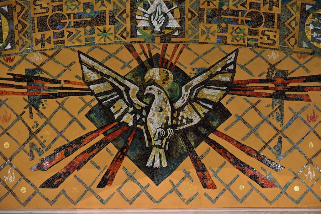 Mosaïque de l'Esprit Saint.